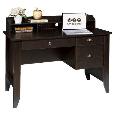 target desk with hutch onespace 50 1617 executive desk with hutch and usb