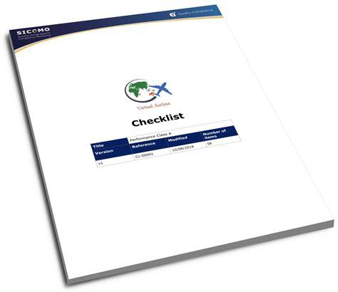 air checklist template checklist template for air operators aoc