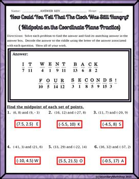 midpoint formula worksheets resultinfos