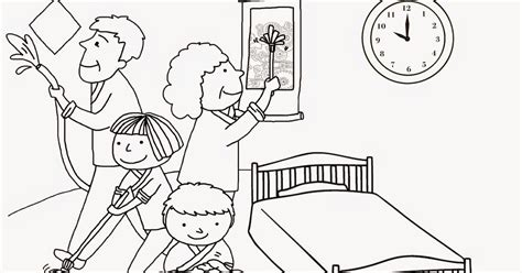 clean house coloring page house cleaning family coloring pages