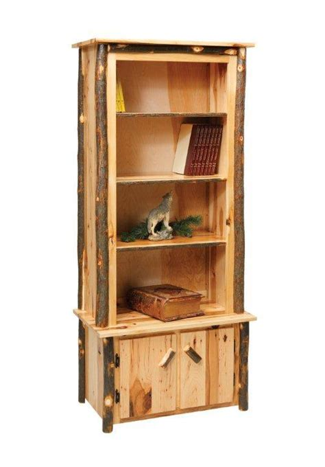 amish bookshelves amish rustic cabin hickory 32 quot bookcase