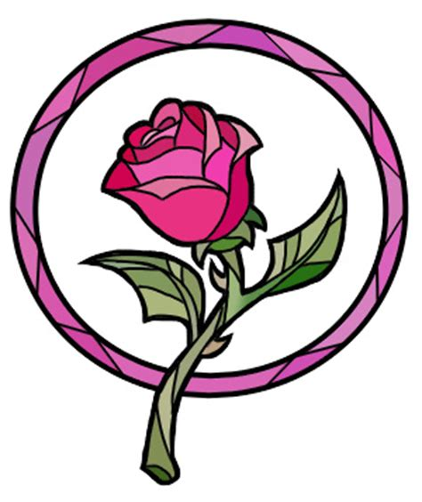 the gallery for gt beauty and the beast rose stained