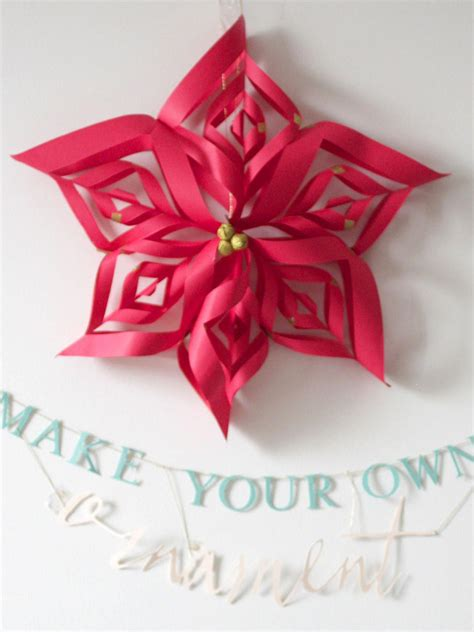 christmas decorations to make at home for free make a paper snowflake star christmas ornament hgtv