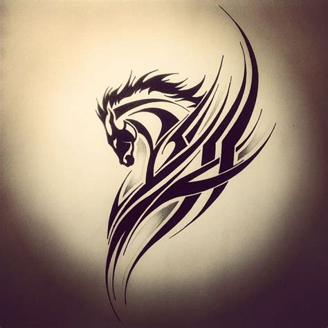 tribal horse tattoo studentsin1place simple tribal animal ink