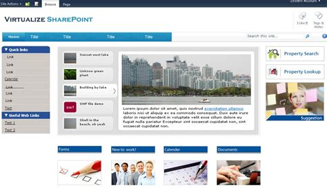 sharepoint layout design exles image gallery sharepoint 2013 intranet
