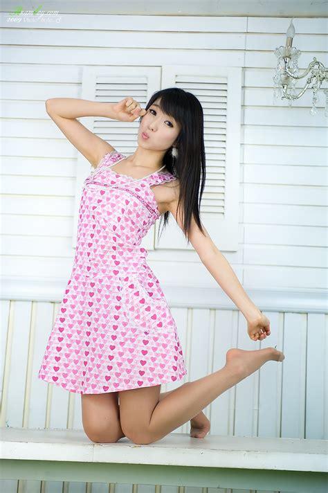 Dress Korea Katun Original Import Pink mima s favorite korean kyeong min 이경민 pink dress gallery kyeong min