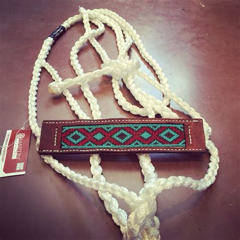 beaded mule tape halter find   facebook appaloosa beads  leather mule tape horse