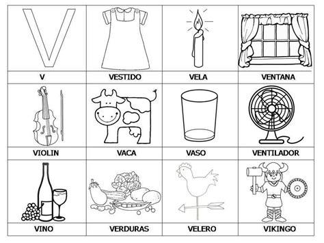 imagenes vs palabras lista de palabras con v para colorear material para