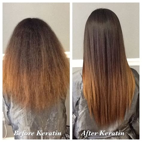 keritin treatment on natural short length hair frizzy to silky straight hair keratin complex natural