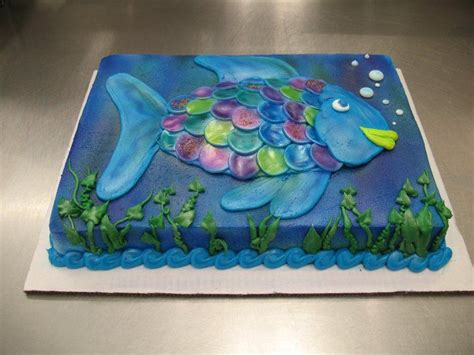 fish sheet cake  stephanie dillon ls hy vee bakery department custom sheet cake cake