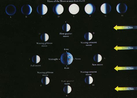 lunar phases diagram phases of the moon diagram