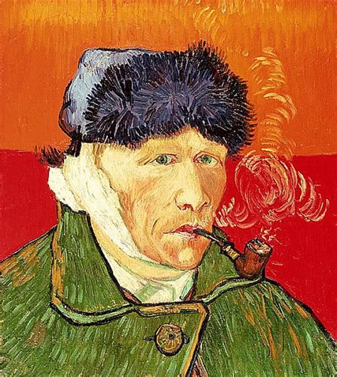 van gogh ear order painting self portrait with bandaged ear and pipe