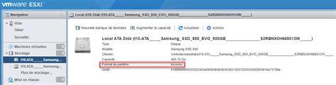 esxi format gpt vmware esxi impossible d ajouter un nouveau stockage