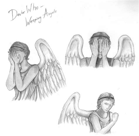 weeping angels coloring page how to draw weeping angels