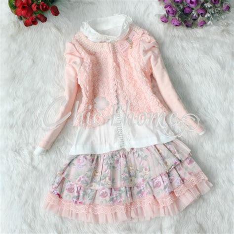 Dress Anak Tutu Kuning Marun 3pcs set pearl flower top jacket shirt lace tulle tutu skirt dress ebay