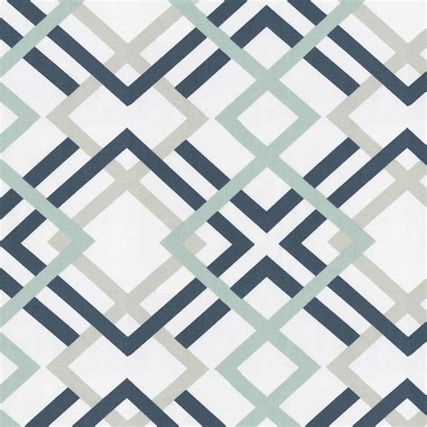 Navy and gray geometric fabric by the yard navy fabric carousel designs