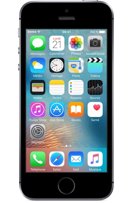 tel mobile iphone apple iphone se 32go gris sideral iphone se