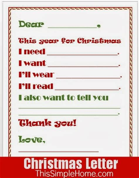 printable noel letters letter from father christmas template search results