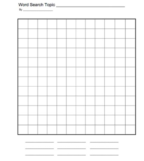 make a template in word create your own word search archives esl