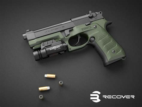 px4 tactical light recover tactical bc2 grip and rail for beretta recover