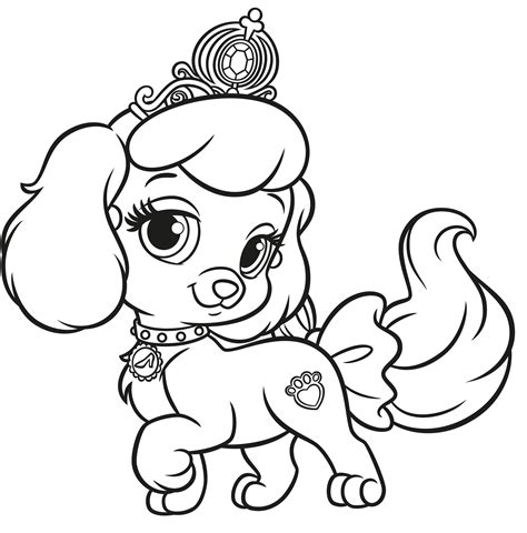 free coloring pages of palace pets