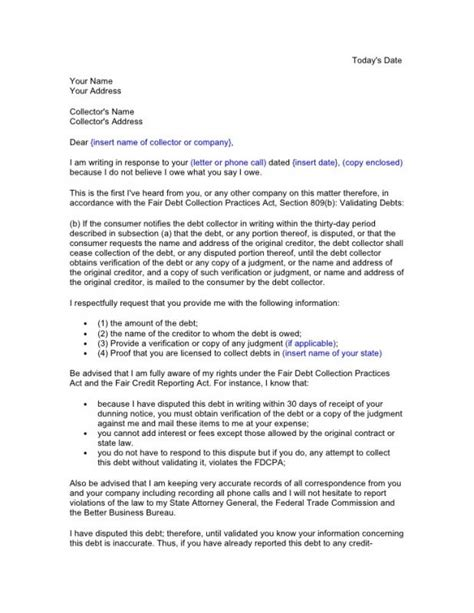 debt validation letter template shatterlion info credit dispute letter template shatterlion info