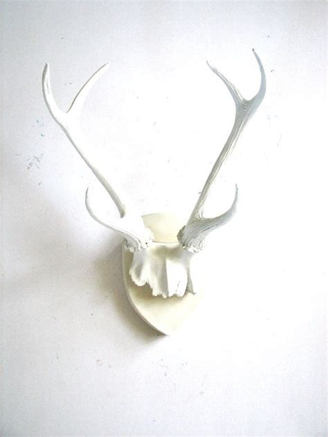 Wall Antlers Decor by Faux Antlers Plaque Wall Hanging Rustic Modern Wall Mount