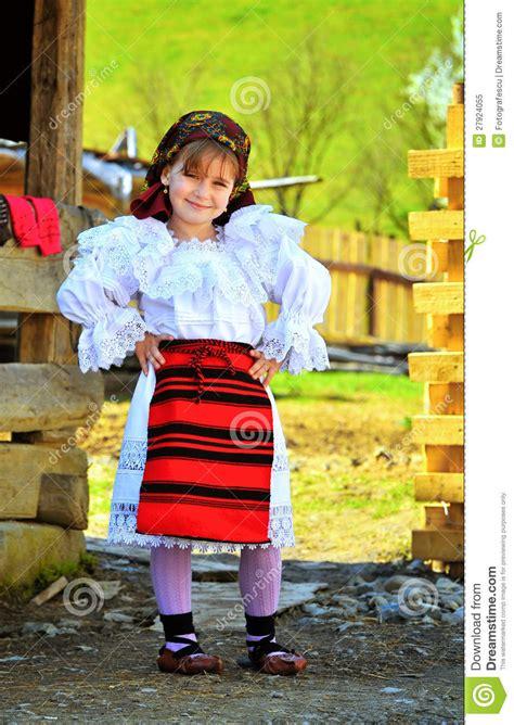 maramures romanian traditional girl editorial image
