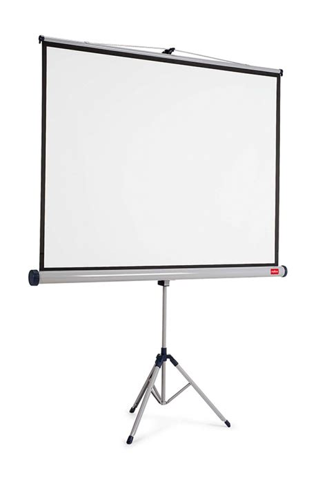 nobo projection screen on tripod 4 3 1750x1325mm white