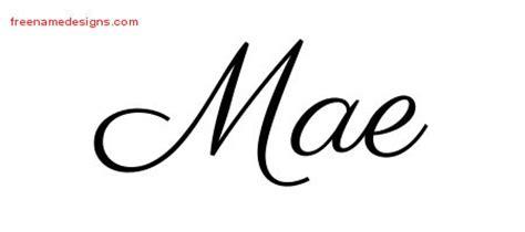 mae design classic name designs mae graphic free