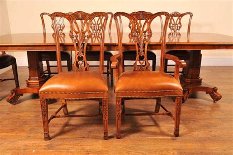 10 place dining table george ii walnut dining table 10 chippendale chair set