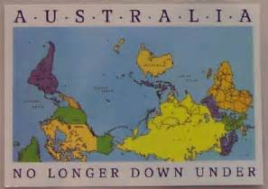 Australia Map Of The World by Exciting Cartography Quot Upside Down Quot Maps