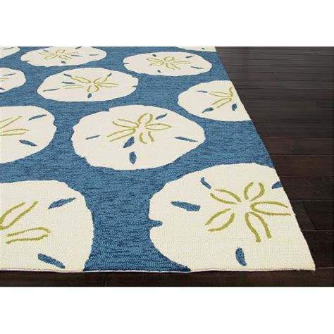coastal living area rugs coastal living indoor outdoor area rug sand dollar navy and white