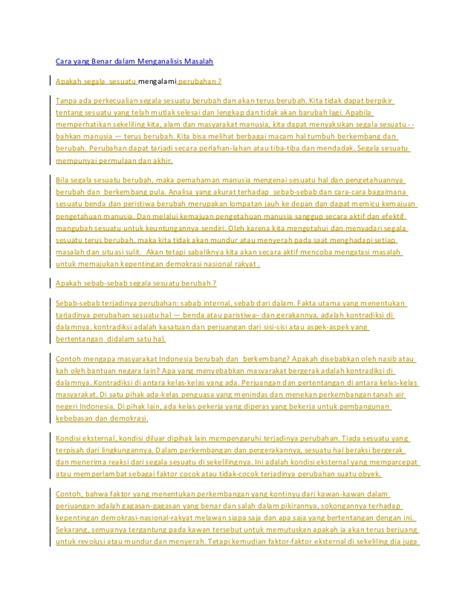 cara membuat analisis novel cara yang benar dalam menganalisis masalah