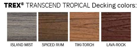 trex transcend colors trex transcend decking fl mi weekes forest products