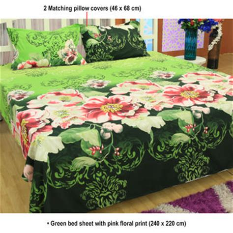 Floral Print Bed Sheet buy set of 5 floral 3d bed sheets with 10 pillow covers