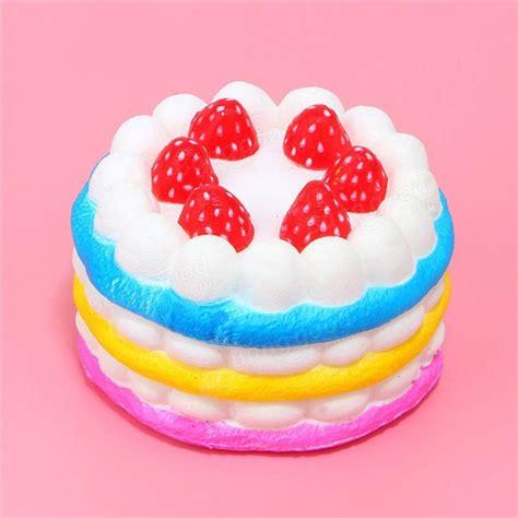 Squishy Buah Stroberi Strawberry Jumbo Rainbow jumbo squishy rainbow strawberry birthday cake rising scented sale