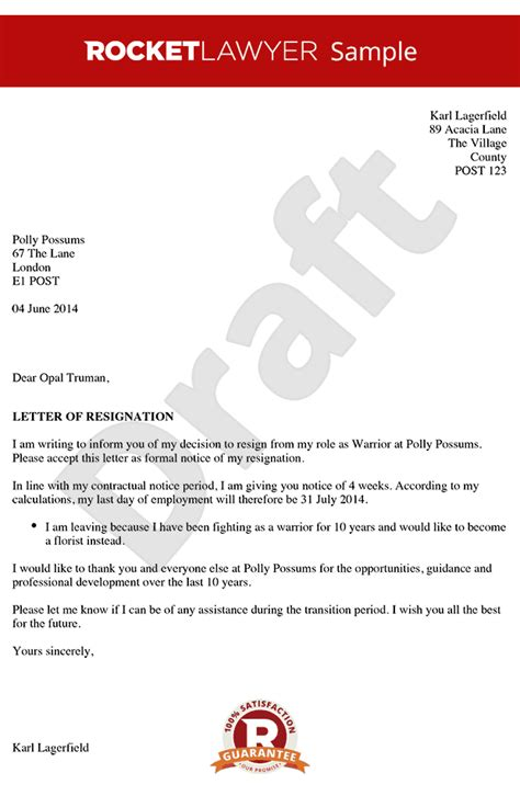 Resignation Letter Format Due To Family Issues Resignation Letter Resignation Letter Sle