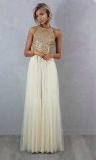 special occasions wedding dresses charmming chiffon tulle with top gold sequin bridesmaid