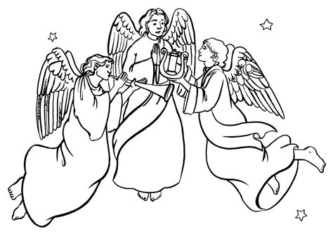 coloring pages angels singing pictures of angels singing cliparts co
