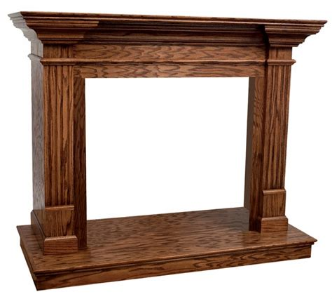 wall mantle superior vantage hearth 32 inch classic dark oak wooden