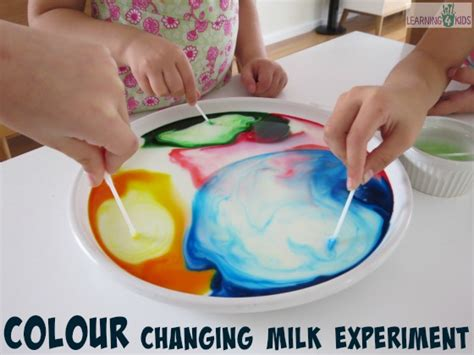 color changing milk experiment colour changing milk experiment learning 4