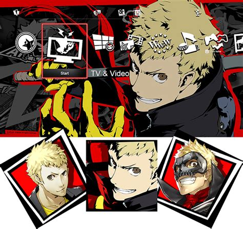 ps4 themes and avatars persona 5 dlc character themes and avatars and patch 1