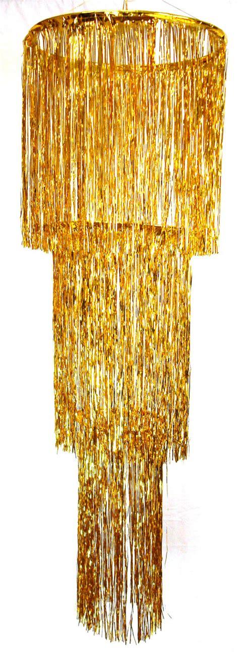 Gold Foil Chandelier 3 Tier Foil Chandelier Gold