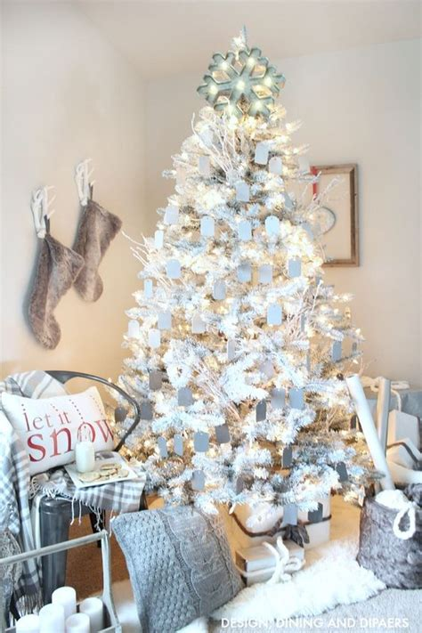 How To Make A Rustic Kitchen Table - all white christmas style series the happy housie