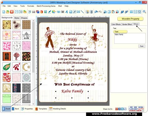 software for invitation card wedding invitation card maker software dedalprivate
