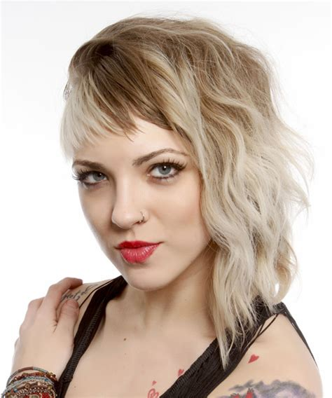 super short with bangs bob alternative hairstyles medium wavy alternative hairstyle with asymmetrical bangs light blonde
