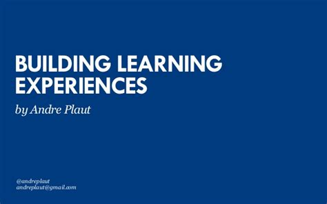 building learning experiences ixda  education summit