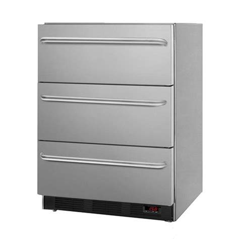 Built In Freezer Drawers by Summit 3 2 Cu Ft Built In Professional 3 Drawer Freezer