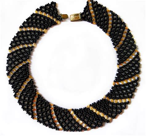seed bead choker patterns free pattern for beaded necklace magic